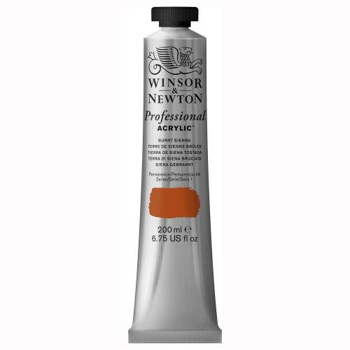 Winsor & Newton Professional - Pintura acrílica, tubo 200 ml, color tierra de siena tostada