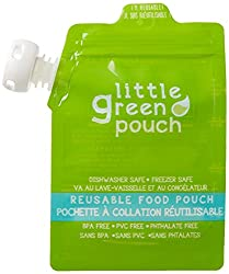 Most popular reusable food pouches, seal up the top for food