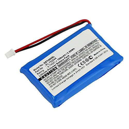 subtel® Qualitäts Akku kompatibel mit Educator ET-400 ET-402 ET-800 ET-802 EZ-900 EZ-902 EZ-903 EZ-904 K9-400 K9-402 K9-800 WF-1202 Ferntrainer/RX-120 Halsband, PL-752544 700mAh Ersatzakku Batterie
