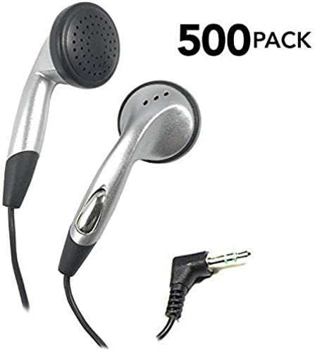 SmithOutlet 500 Bulk Pack Earbuds Silver