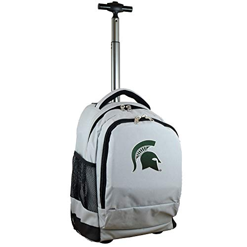 Denco NCAA Michigan State Spartans Wheeled Backpack, 19-inches, Grey