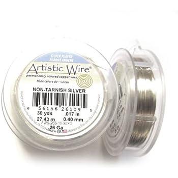 Beadalon 26 Gauge Silver Plated Artistic Wire 30-Yard Hematite