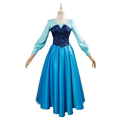 IAIZI Erwachsene Die kleine Meerjungfrau Cosplay Prinzessin Cosplay Kleid Remake Version Mädchen-Frauen-Klage-Halloween-Karneval-Kostüm, XL (Größe: mittel) ZGHE (Size : Medium)