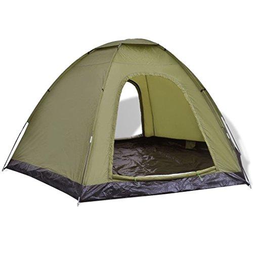vidaXL Tent 6 Personen Groen Kampeertent Camping Tenten Kamperen Campingtent