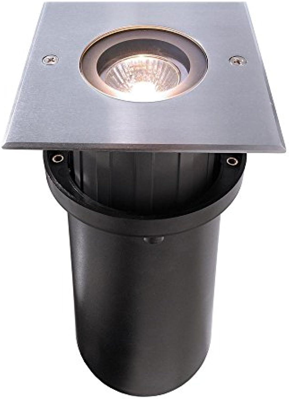 LED Bodeneinbauleuchte, Quick Square, symmetrisch, 220-240V AC 50-60Hz, GU10, IP67, 35W