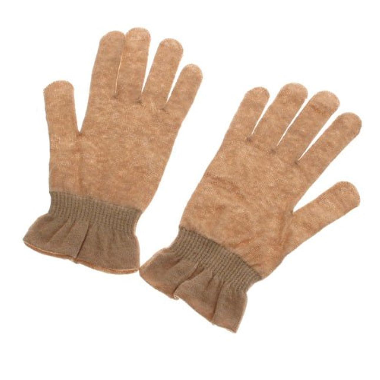 舗装寄託タバコオーガニックコットン天衣無縫 UVカット手袋?エステ ブラウン フリー