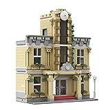 WWEI Estación modular de 1385 piezas de construcción para casas modulares, construcciones MOC, bloques de sujeción compatibles con Lego City