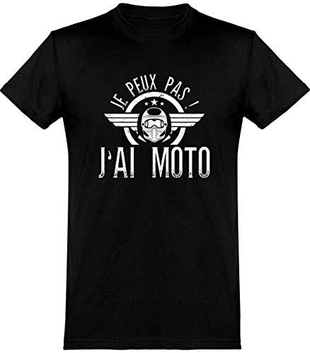 T Shirt Homme j'peux Pas J'Ai Moto 2 | Cadeau Humour Papa Anniversaire Original Rigolo Humoristique