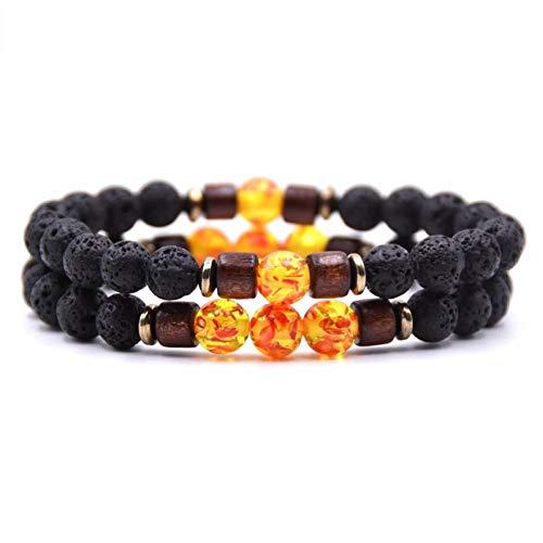 KJFUN Armbanden Voor Koppels Stenen Armband/Kralen/Lava/Armbanden Armband Heren Kralen Mala Armbanden