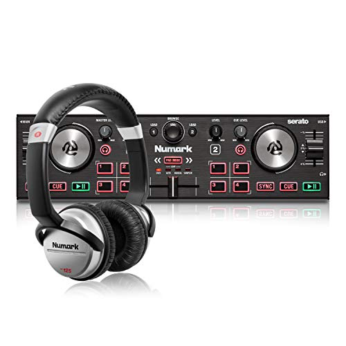 Numark DJ Komplettset - DJ2GO2 Touch 2-Deck USB DJ-Controller für Serato + HF125 professioneller Kopfhörer