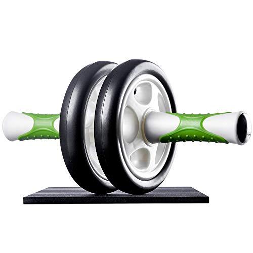 Ultrasport Bauchtrainer AB Roller / AB Trainer inkl. Knieauflage, Bauchtraining für Männer und Frauen, Bauchmuskelroller mit Multifunktion, auch für Senioren, platzsparend klappbarer Muskeltrainer