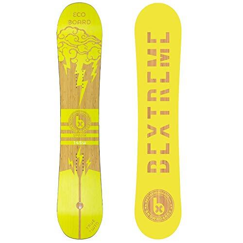 Bextreme Tabla Snowboard Mujer/Chica/niño Spark 145cm. Eco-Board Hecha de Bambu, Haya y álamo. Snow All Mountain polivalente para Freestyle y Freeride