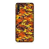 Funda Galaxy A50 Carcasa Compatible con Samsung Galaxy A50 Camuflaje Militar Ejército Militar De Camuflaje Camuflaje Amarillo y Negro Naranja/Imprimir también en los Lados. / Teléfono Hard Snap e