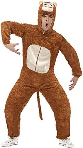 Smiffys Unisex Affen Kostüm, Jumpsuit mit Kapuze, Größe: M, 31677