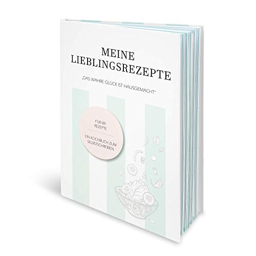 SIMPLIICITY Rezeptbuch zum Selberschreiben (eingeschweißt) - Rezeptbuch mit Register in DIN A4 mit extra viel Platz und auf festem Papier - Kochbuch Selbst Schreiben: Meine Rezepte, Rezeptebuch blanko