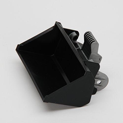 Bruder Ersatzteil Schaufel mit Grundträger in schwarz, für 02009, 02101, 02111, 02112