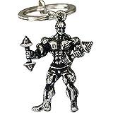 Llavero de metal con mancuernas para levantamiento de pesas y regalo para hombres...