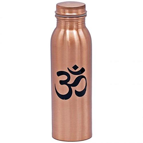 Yogabox Rame Bottiglia con Tappo a Vite–Om–Stampata, Contenuto: 750ML–Cura: Lavare a Mano