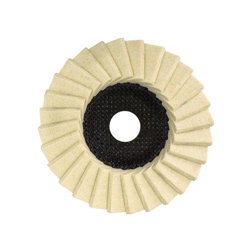 Glanz - Polierscheibe 115mm für Winkelschleifer , Filz , Fächerscheibe