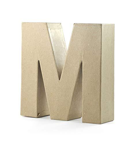 Pracht Creatives Hobby 4875-100M1 - Papp Art Buchstabe M, Pappbuchstabe ca. 10 x 3 cm groß, ideal zum Bemalen, Bekleben und Verzieren, für Serviettentechnik geeignet, als dekorativer Schriftzug