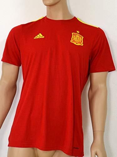 adidas Herren Trikot Jersey Stadium Home 16/18 Spain Heimtrikot, Rot/Gelb, M