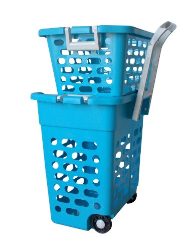 k.a. fahrbarer Wäschekorb (blau)