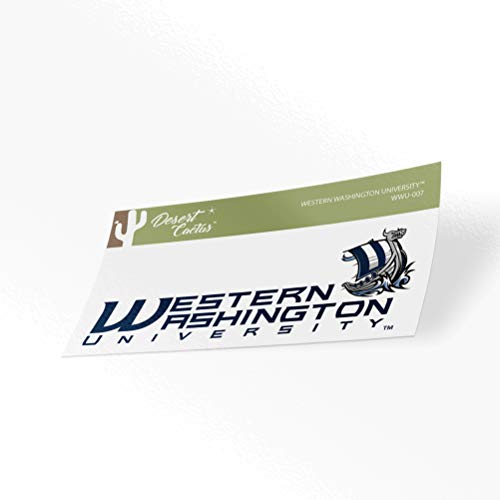 Western Washington University WWU Vikings NCAA Vinyl Decal Laptop Water Bottle Car Scrapbook (Sticker - 007)