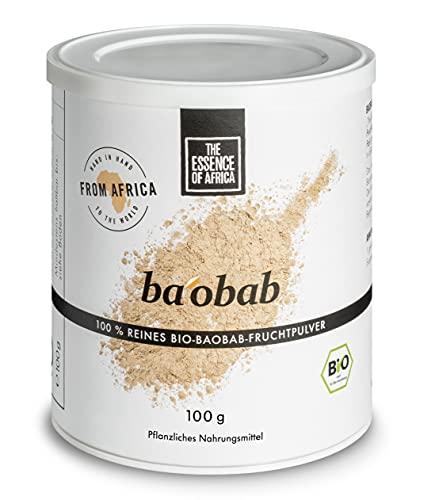 The Essence of Africa Bio Baobab-Fruchtpulver, 100 g