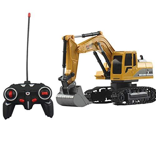 1/24 6CH Bagger Fahrzeug-Modelle Spielzeug Ingenieur Truck & Aluteile Light Music RC Auto-Kind-Spielwaren-Geschenke,Beige