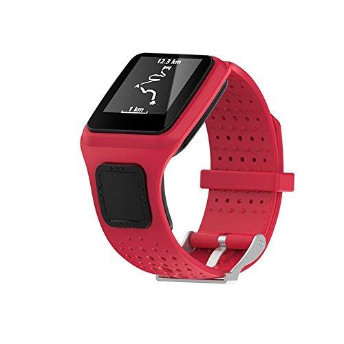 Pegtopone - Correa de Repuesto de Silicona para Reloj Deportivo Tomtom Multi-Sport HRM Multi-Sport HRM CSS Am Cardio GPS