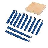 KATSU Torno 11Pc Conjunto de herramientas de torneado de fresado de mandrinado soldado de 8 mm