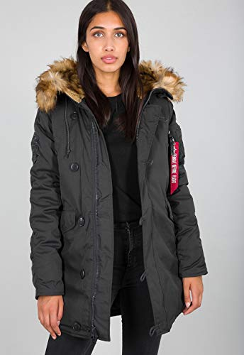 Alpha Industries Explorer Wmn Winterjacke Rep.Grey, Gr��e  M
