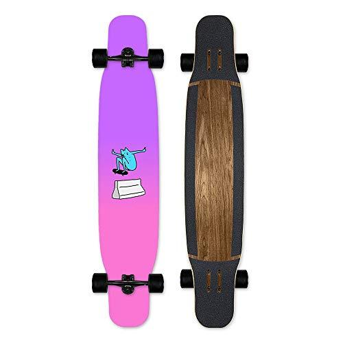 Great Deal! Z-CS Perfect Double Kick Cruiser Board, Professional 46-Inch Longboard Flat Flower Danci...