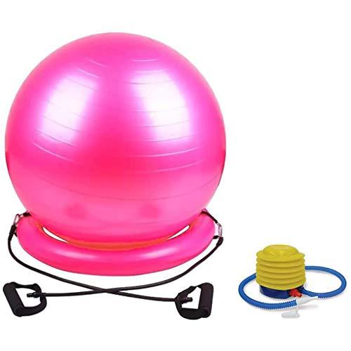 Zsh Gym Ball Anti Burst Yoga Ball Fitness Ball Oefening Bal Met Hand Pomp & Stabiliteit Ring, Thuis Gym Office Gebruik Voor Zwangerschap, Geboorte En Gewichtsverlies Oefening, 65/75cm