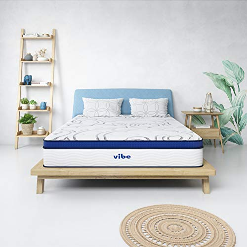 Vibe 12-Inch Quilted Gel Memory Foam and Innerspring Hybrid Pillow Top Mattress (Only) - Queen