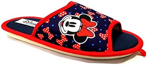 de fonseca Disney Minnie Pantofole Donna Cotone MOD. Bari W570 Blue (Numeric_37)
