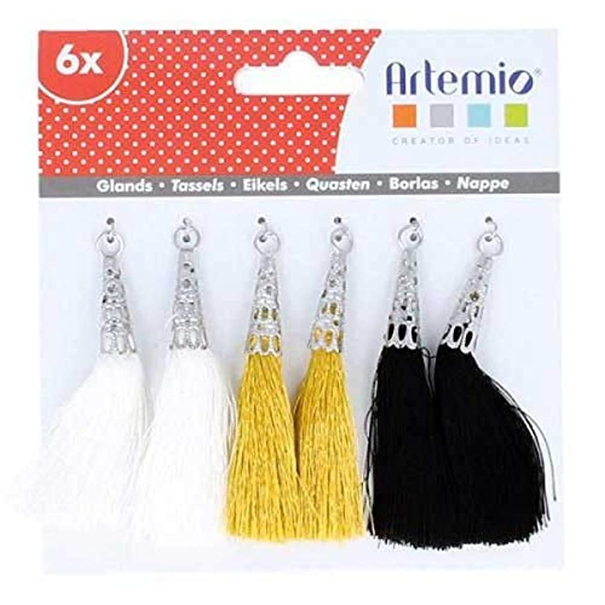 Artemio 6 White-Golden-Black Tassels