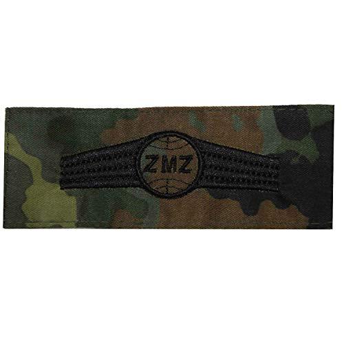 Bundeswehr Tätigkeitsabzeichen ZMZ Zivil-Militärische Zusammenarbeit - Personal Schwarze Stickerei auf Flecktarn-farbenen Original Stoff