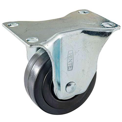 doerner in lamiera di acciaio zincato Helmer 790120/C ruote girevoli /Ø 30/mm Ruota in plastica grigio