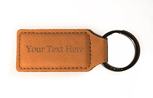 Customized 3D Laser Engraved Custom Personalized Keychain Gift for Him, for Her, for Boys, for Girls, for Husband, for Wife, for Them, for Men, for Women, for Kids (TAN)