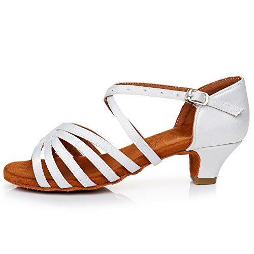 HIPPOSEUS Zapatos de Baile de Salsa Latina para niñas y Mujeres Zapatos...