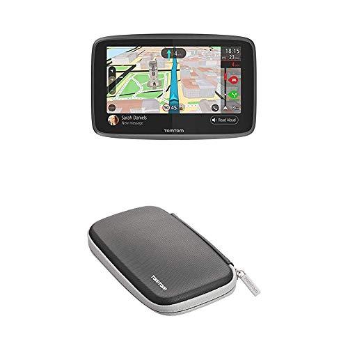 TomTom GO 6200 Pkw-Navi (6 Zoll, mit Freisprechen, Siri und Google Now, Updates über Wi-Fi, Lebenslang Traffic via SIM-Karte und Weltkarten, kapazitivem Display) & Klassische schützende Tragetasche