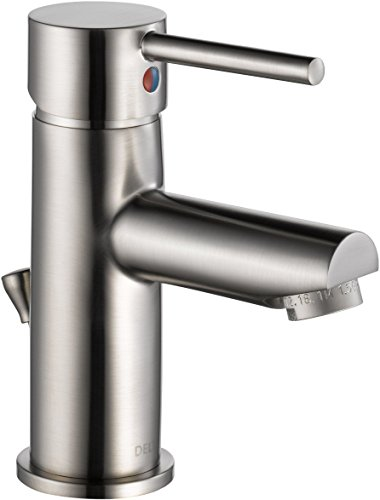 Delta Faucet Modern Single Hole Bathroom Faucet Brushed...