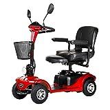 ZZUU Mini Scooter Eléctrico,para Discapacitados Ancianos Vehículo De Movilidad,Silla De Ruedas Eléctrica Plegable, 4 Ruedas para Adultos,B