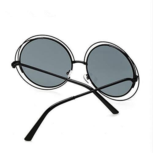 CHENG/ CHENG Sonnebrille New Vintage Round Big Übergroßen Objektiv Spiegel Sonnenbrille LadyWomen Sun Glasses