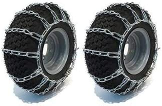 Raisman Pack of Two Outlet SALE 18x9.50-8 Zinc In a popularity Tire 2 Link Plated Chains