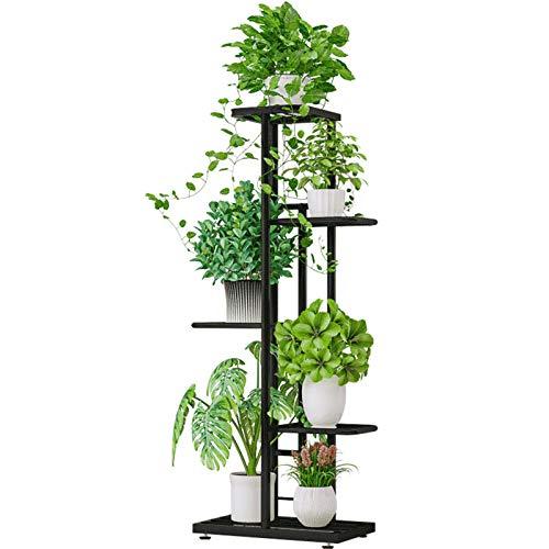 Galapara Metal Plant Stand Estantes de Flores, 5 Niveles Estante para macetas Soporte para Plantas Escalera para macetas Soporte para macetas para Plantas en macetas Estante de Almacenamiento