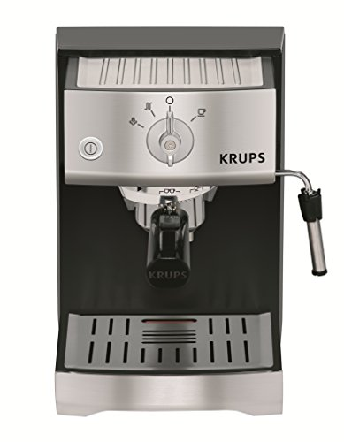 KRUPS XP5220 Pump Espresso Machine with KRUPS Precise Tamp Technology and Stainless Steel Control Panel, Black
