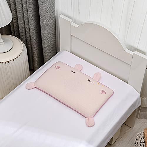 MRBJC Almohada para niños pequeños con funda de almohada – Almohadas de algodón orgánico suave para dormir – niños pequeños, niños, bebés, perfecto para viajes, cuna en polvo de 50 x 29 x 4 cm