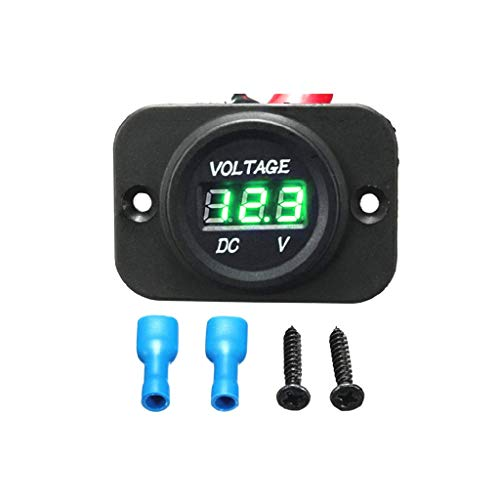 Read About Smaersty DC 5-30V Digital Car Voltmeter LED Display Panel Waterproof for AUTO Volt Tester